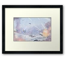 Burning Snow Framed Print