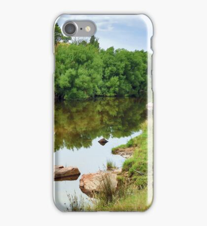 Reflections on the Mitta Mitta. iPhone Case/Skin