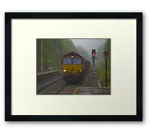 Goods Train arriving at Hebden Bridge Framed Print