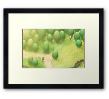 Little Garden Framed Print