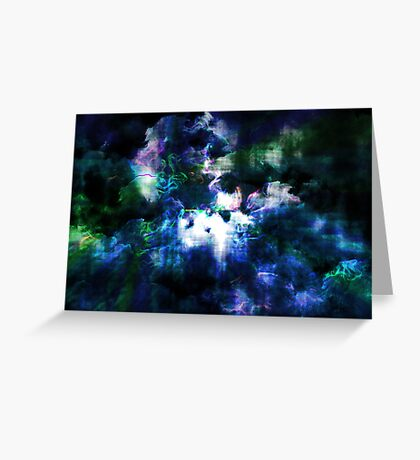 Coloured Clouds Greeting Card