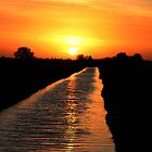 Counter Drain at Sunset by Tony Dewey