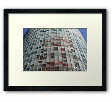 skyscraper with solar blinds Framed Print