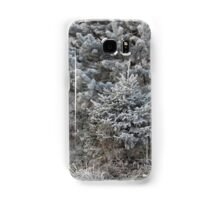 forest trees in hoarfrost Samsung Galaxy Case/Skin