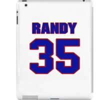 National baseball player Randy Sterling jersey 35 iPad Case/Skin
