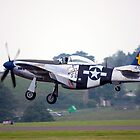 P51D Landing. by Mark  Jones