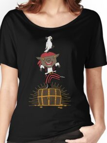 Pirate Happy Dance with Parrot Women's Relaxed Fit T-Shirt