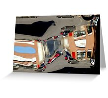 Reflection in A Chrome Bumper.... those were the days!!!! Greeting Card