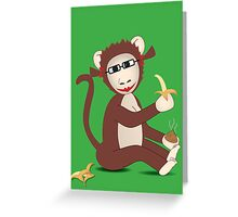 Steph the Banana Monkey (with accessories)  Greeting Card