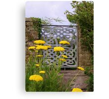 Yellow Tansy and a Gate Canvas Print