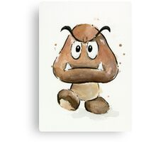Goomba Watercolor Canvas Print