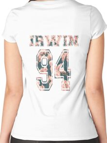 Irwin '94-floral Women's Fitted Scoop T-Shirt