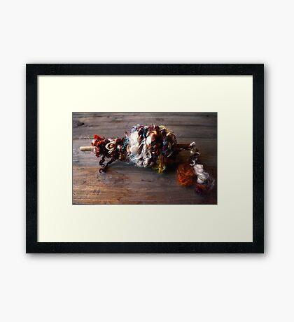 Tailspun Locks Framed Print