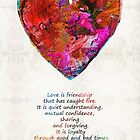 Red Heart Art - Love Is - By Sharon Cummings by Sharon Cummings