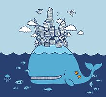 Whale City by ShakeyIllustra
