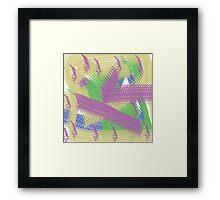 yellow, green, purple and blue Framed Print