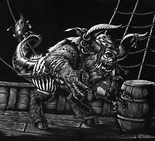 Pirate Beast by SMorrisonArt