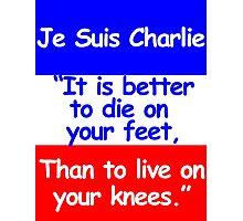Je Suis Charlie Photographic Print