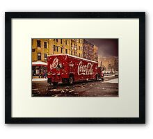 A Big Red Truck In The Barrio Framed Print