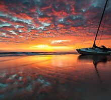 Outer Banks North Carolina Graveyard of the Atlantic Sunrise Shipwreck by MarkVanDyke