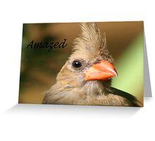 Amazed Greeting Card