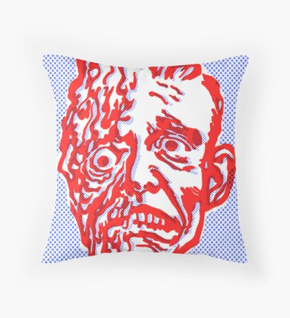 MR. MELTY FACE Throw Pillow