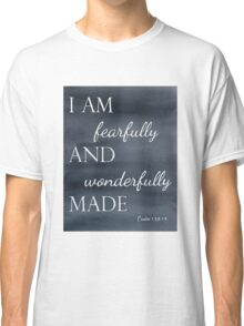 Psalm 139:14 Watercolor Classic T-Shirt