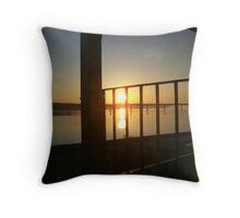 Lake Kerr Sunrise over Clarksville Throw Pillow