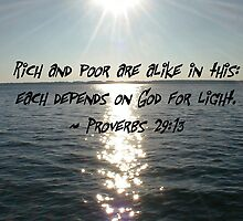 Proverbs 29:13 by lyndamarie