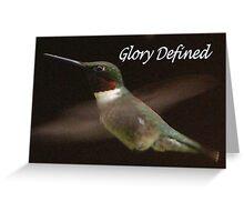 Glory... Greeting Card