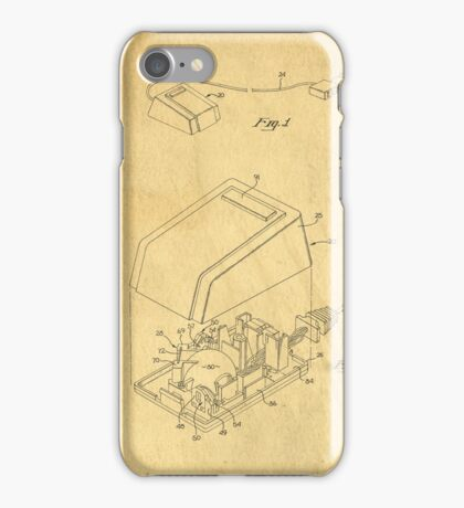 Early Computer Mouse Patent 1984 iPhone Case/Skin