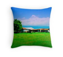 Farm sheds Throw Pillow