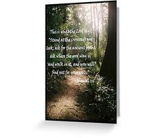 Jer. 1:16 Greeting Card