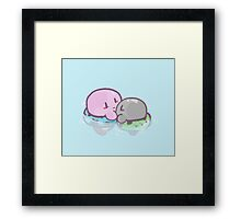 Kirby: Swim Framed Print