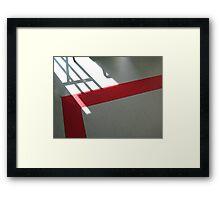exit left Framed Print
