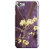 Yellow catkins iPhone Case/Skin