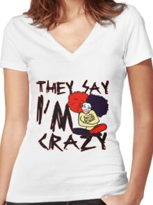 Crazy Women's Fitted V-Neck T-Shirt