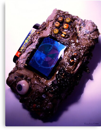 Photograph of my Microwaved Mutant Sega Nomad by Kenny Irwin