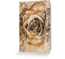 Sepia Bloom Greeting Card
