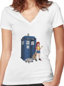 Lost In Space And Time Women's Fitted V-Neck T-Shirt