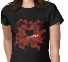 Dexter - love blood splatter Womens Fitted T-Shirt