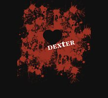 Dexter - love blood splatter Womens Fitted T-Shirt