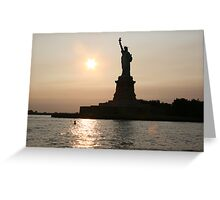 Liberated Sunset Greeting Card