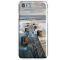 Folly Beach Charleston South Carolina Timber Erosion Control Structure iPhone Case/Skin