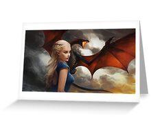 Daenerys Targaryen - Mother Dragons Greeting Card