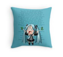Ievan Polkka - Hatsune Miku Throw Pillow