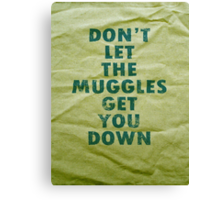 Don't Let The Muggles Get You Down - Harry Potter Canvas Print