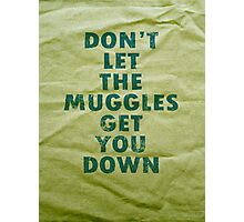 Don't Let The Muggles Get You Down - Harry Potter Photographic Print