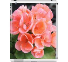 Peach Geraniums iPad Case/Skin