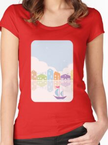 Dreamy landscape t-shirt Women's Fitted Scoop T-Shirt